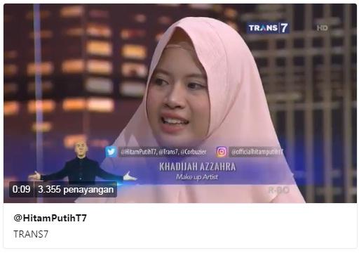 Bintang Tamu Hitam Putih Hari Ini Khadijah Azzahra Make Up Artist